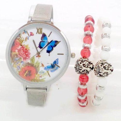 Montre Papillon plus deux Bracelet Lion