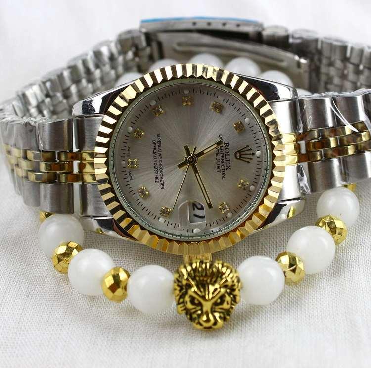 Montre Rolex Date juste avec Bracelet lion