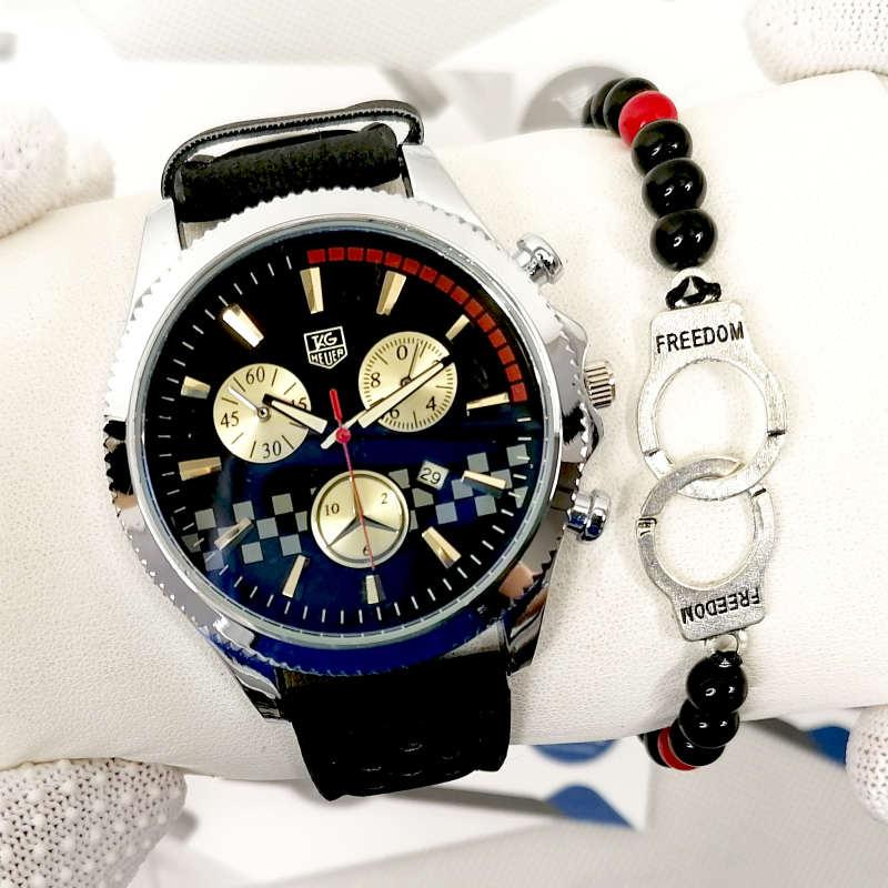 Montre Carrera Tag Heuer Noir + Bracelet