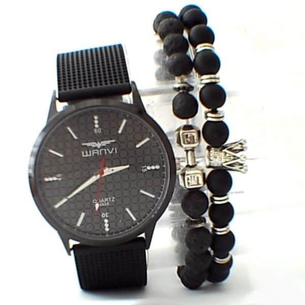 Montre Wanvi avec 2 Bracelets Avec Boite Cadeau