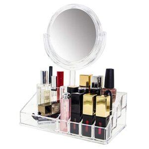 Pratique miroir design – avec boîte de rangement.