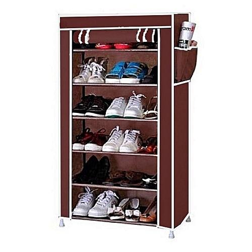 Armoire à chaussures 6 étages  - marron
