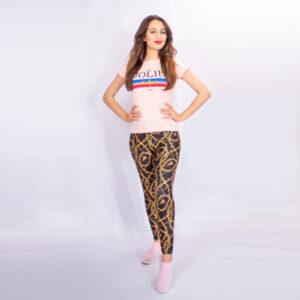 Legging Chaine Inspiré de Marque Italienne de luxe gucci zara