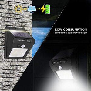 LED Lampe Solaire Étanche Solaire Lampe PIR Motion Capteur Solaire Maroc vente