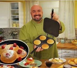 POÊLES À CRÊPES ROBUSTES pankeik maroc achat 4 cavité crêpe biscuits Comme Vu sur TV USA TV Produits commerciaux plat de cuisson moule à cake Avec quatre trous