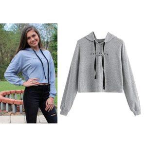 Sweat à capuche Taille haute pour Femme gris maroc 300x300 - Sweat à capuche Taille haute pour Femme - gris