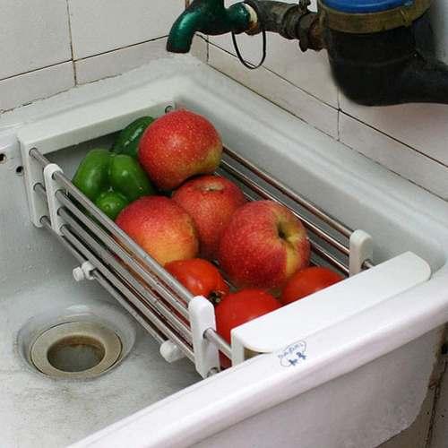 rBVaSltijJiAcLZsAALX0vPx9zs250 - Egouttoir à Vaisselles et Legumes Inoxydable Adaptable pour tout les Lavabos