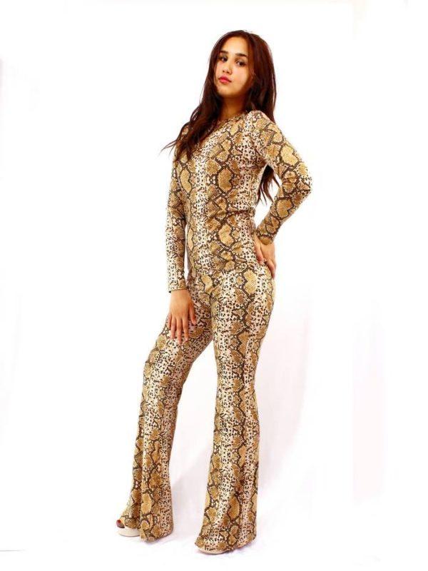 ensemble peau serpent marron maroc vetement maroc