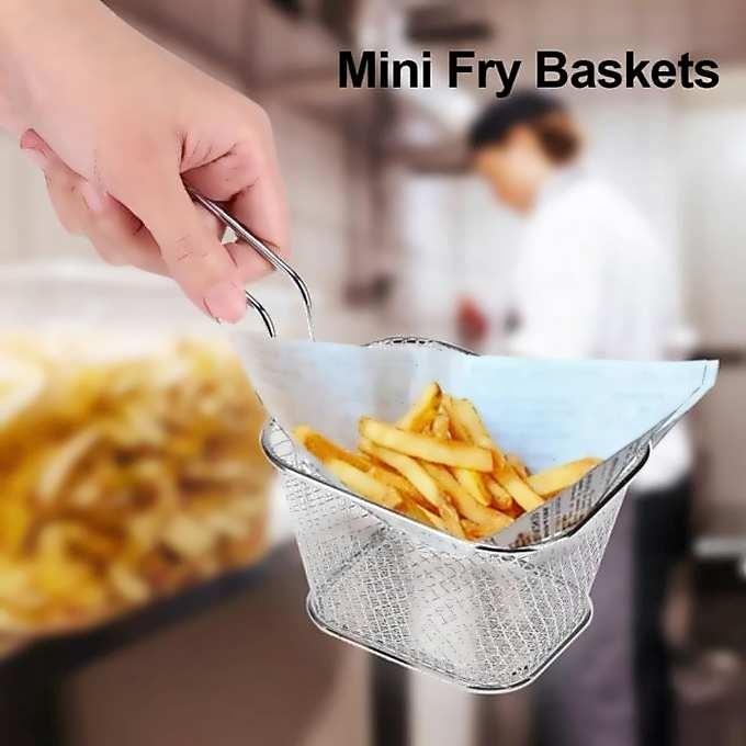 2 1 - Pack 6 Mini Panier Présentation Alimentaire Inoxydable