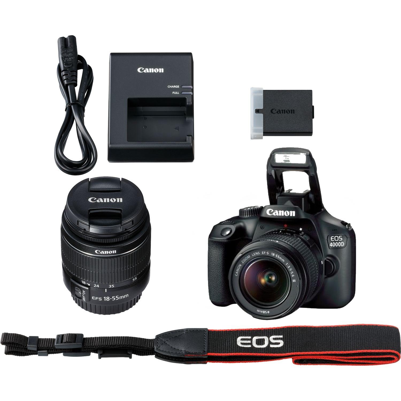 CANON EOS 4000D NOIR  Wifi+ Objectif EF-S 18-55 MM F/3.5-5.6 III Garantie1 an