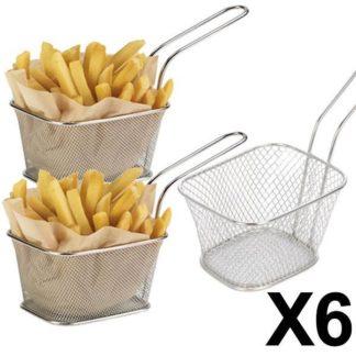 6 minis paniers a frites individuels inox 10x8 324x324 - E Achat Maroc | Montres, Parfum, Chaussures, vêtements, maison, beauté ...