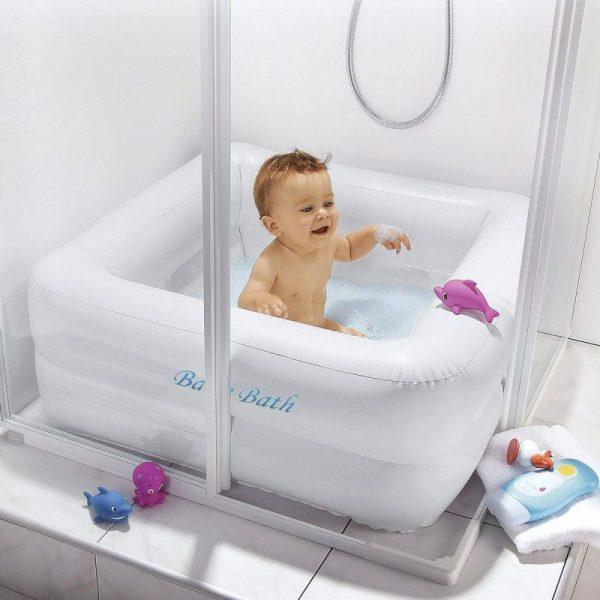 Baignoire gonflable pour bain de bébé 0 à 3 ans 86cm x 86 cm x 25cm