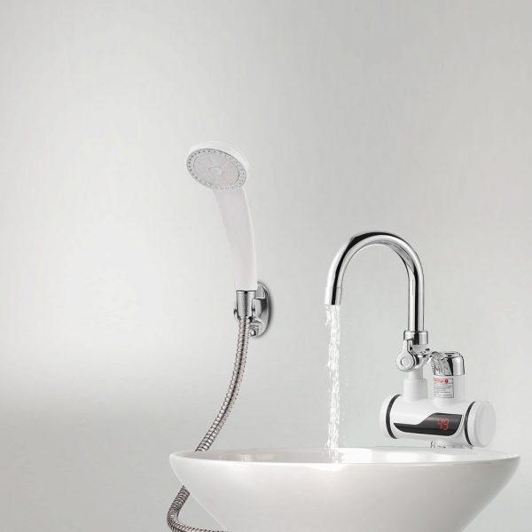 Robinet de chauffage instantané d'eau chaude et froide + Affichage de la température+ Pomme de douche installation hammam