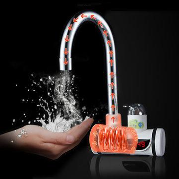 Robinet de chauffage instantané d'eau chaude et froide + Affichage de la température maroc vente promotion