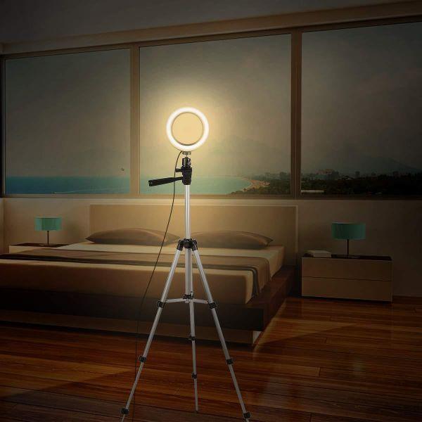 Ring Light maroc Anneau Bague lumineux LED Diametre 33cm+ Trepied 1m05 achat