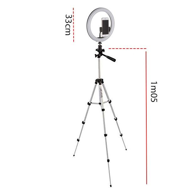 ring light professionel 33 cm avec trepied 1m05 vente maroc casablanca lumiere anneau solde promotion telephone bloguer youtube maroc