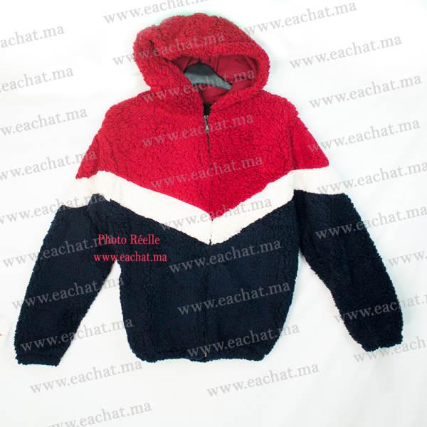 Sweat à Capuche en Peluche Polaire Chaud - Image Réelle - Taille Standard